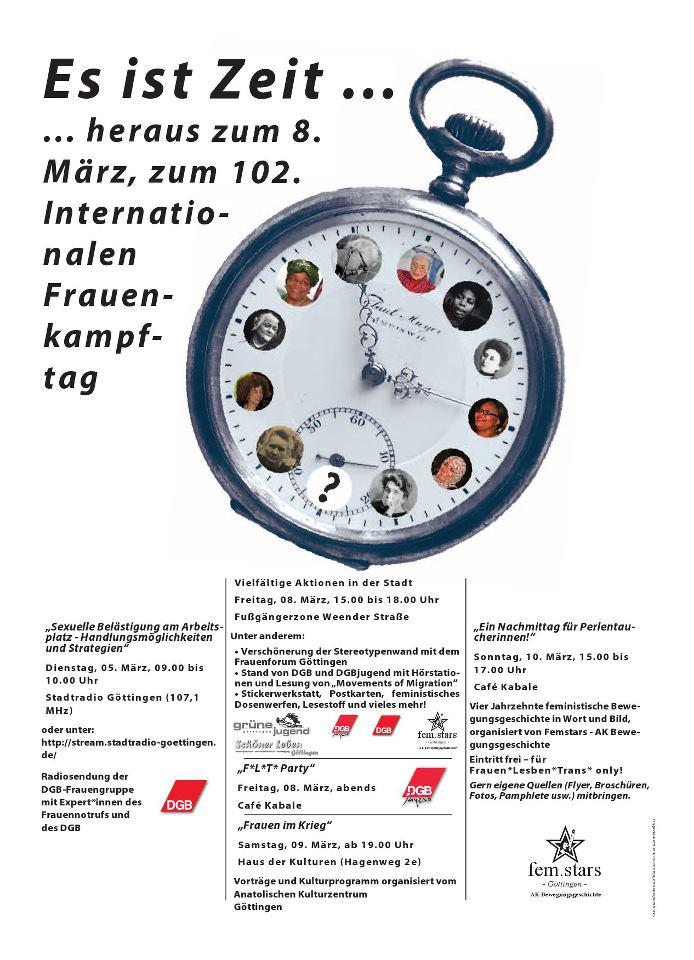 Plakat 8. März 2013